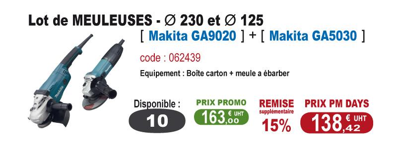 Lot de Meuleuses - Makita GA9020 + Makita GA5030