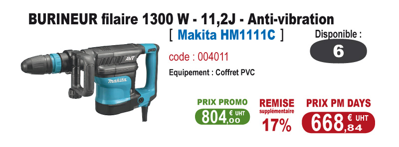 Burineur anti-vibration - Makita HM1111C