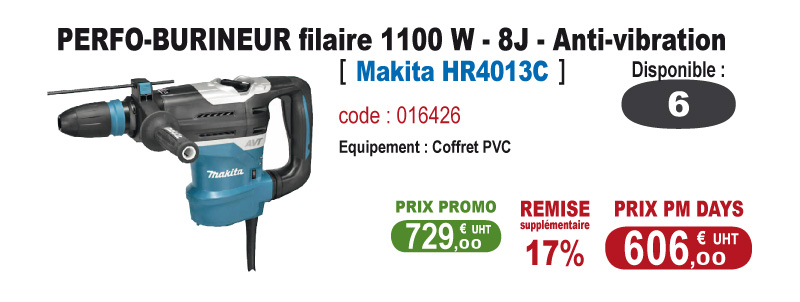 Perfo-burineur anti-vibration - Makita HR4013C